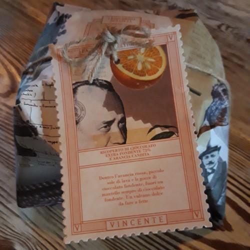 Vincente Panettone Cioccolato Fondente 72% Arancia e Candita