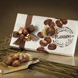 Flamigni dal 1930-Marrons glacès in scatola regalo incartata da 240 gr